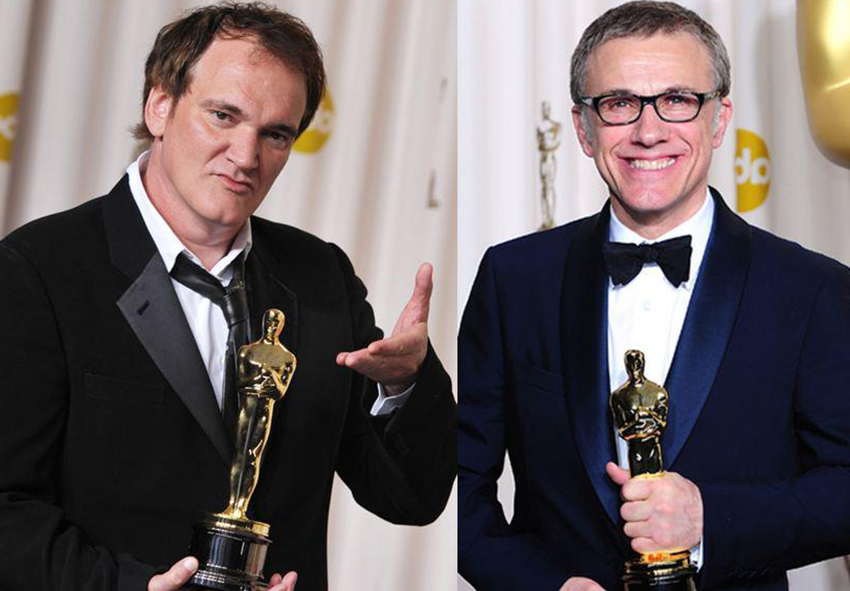 Christoph Waltz et Tarantino, oscars pour Django Unchained