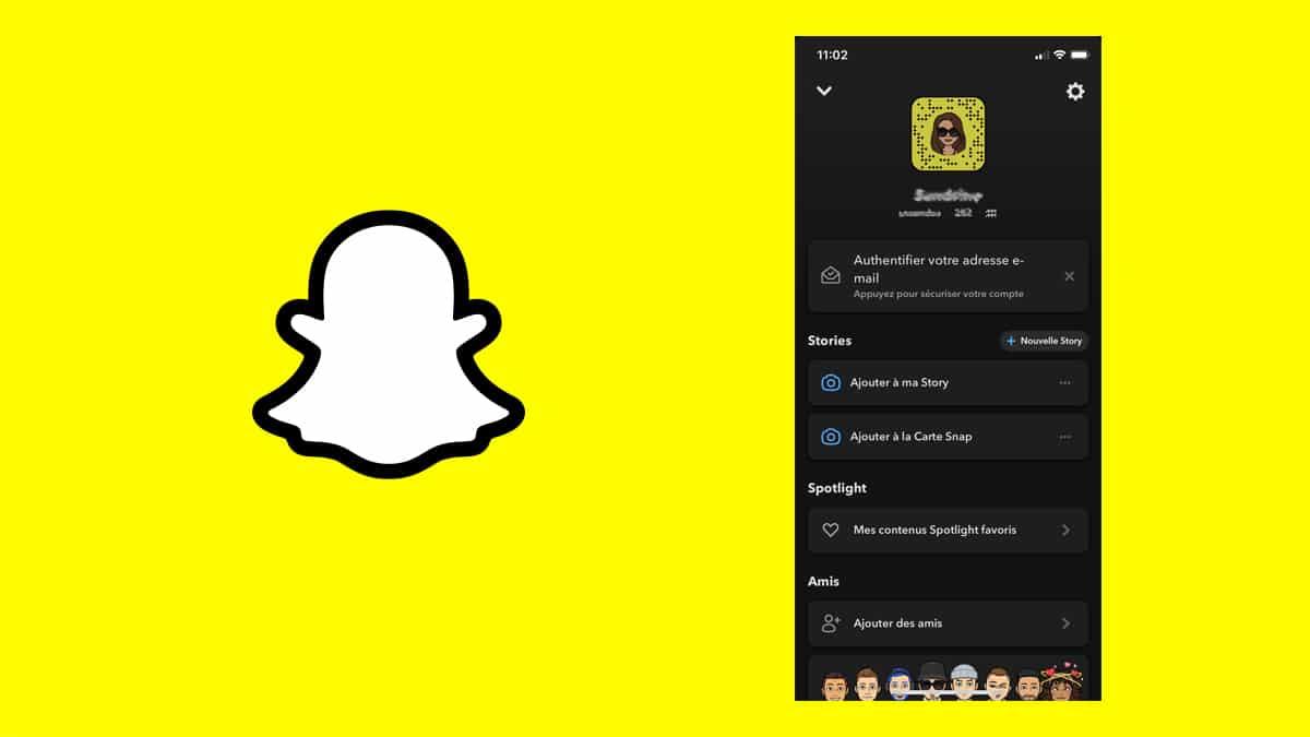 le dark mode possible sur snapchat