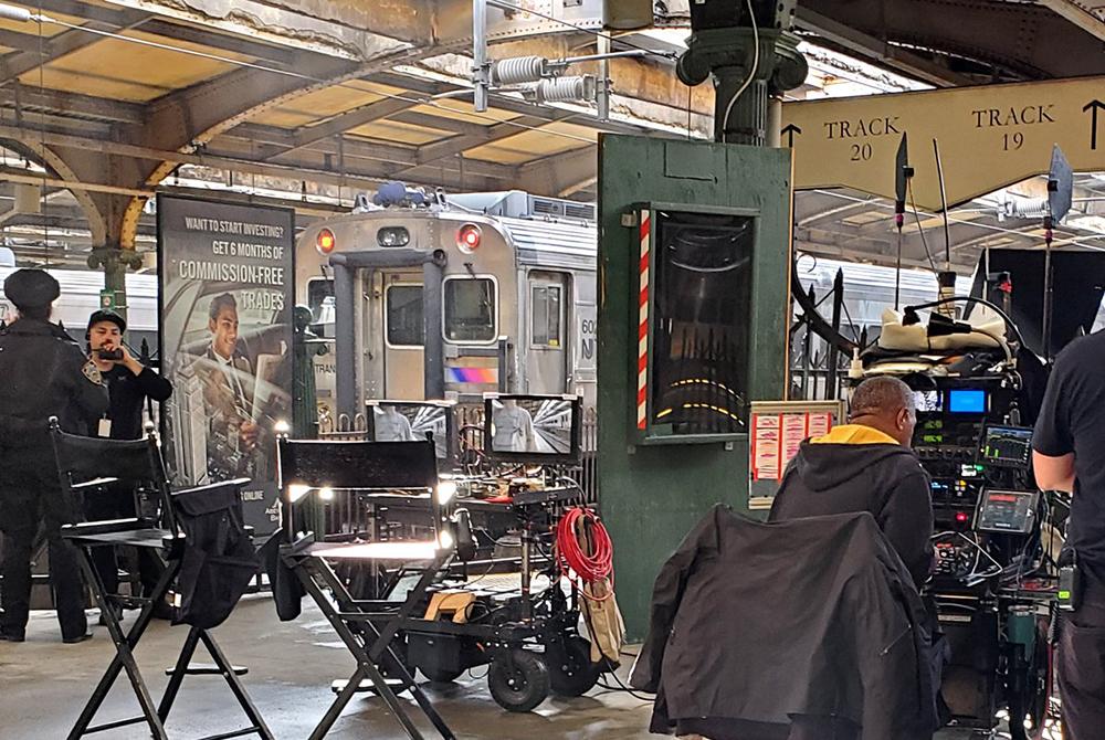tournage dans le métro de New York de Lincoln