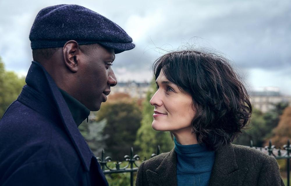Assane Diop et Juliette Pellegrini dans Lupin