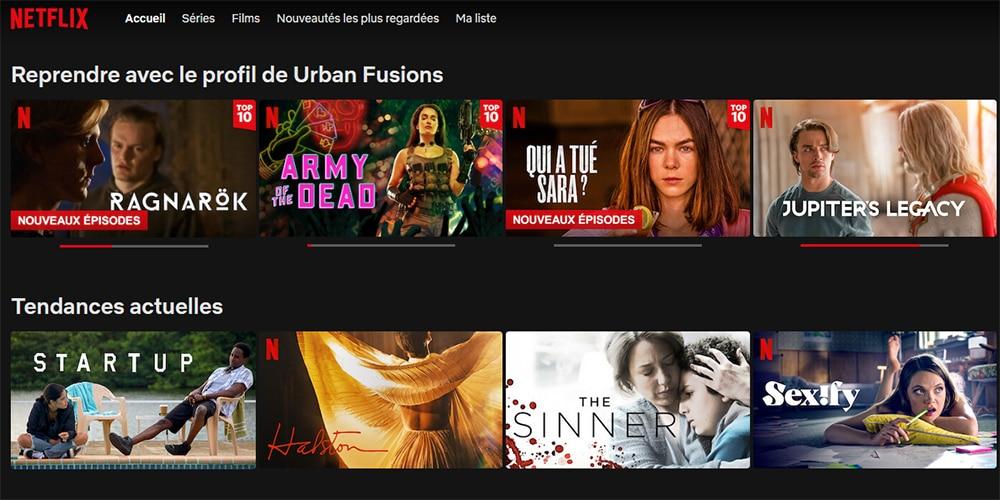 Compte personnalisé sur Netflix