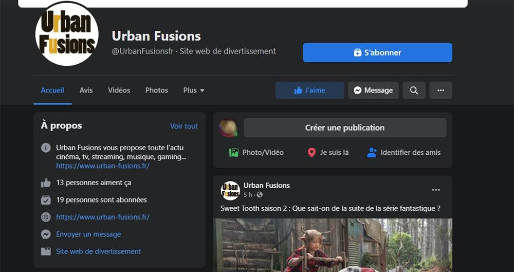 Facebook en dark mode sur PC