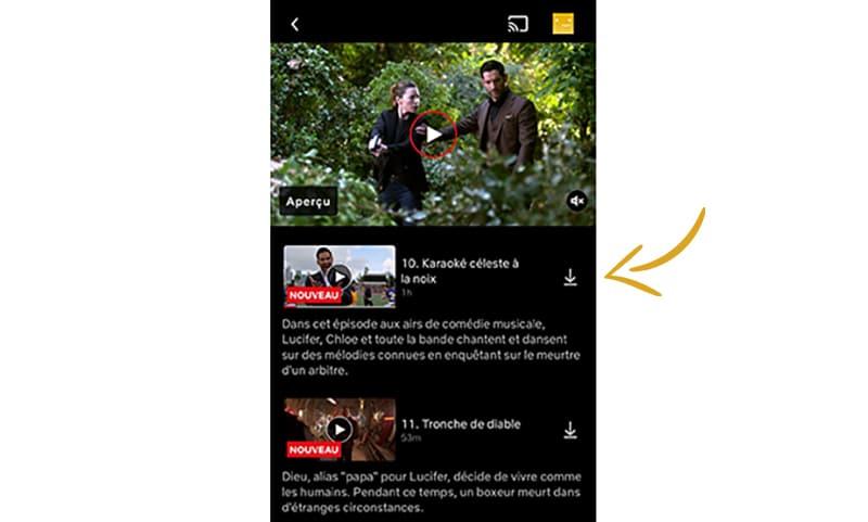 télécharger contenu Netflix pour le regarder hors ligne